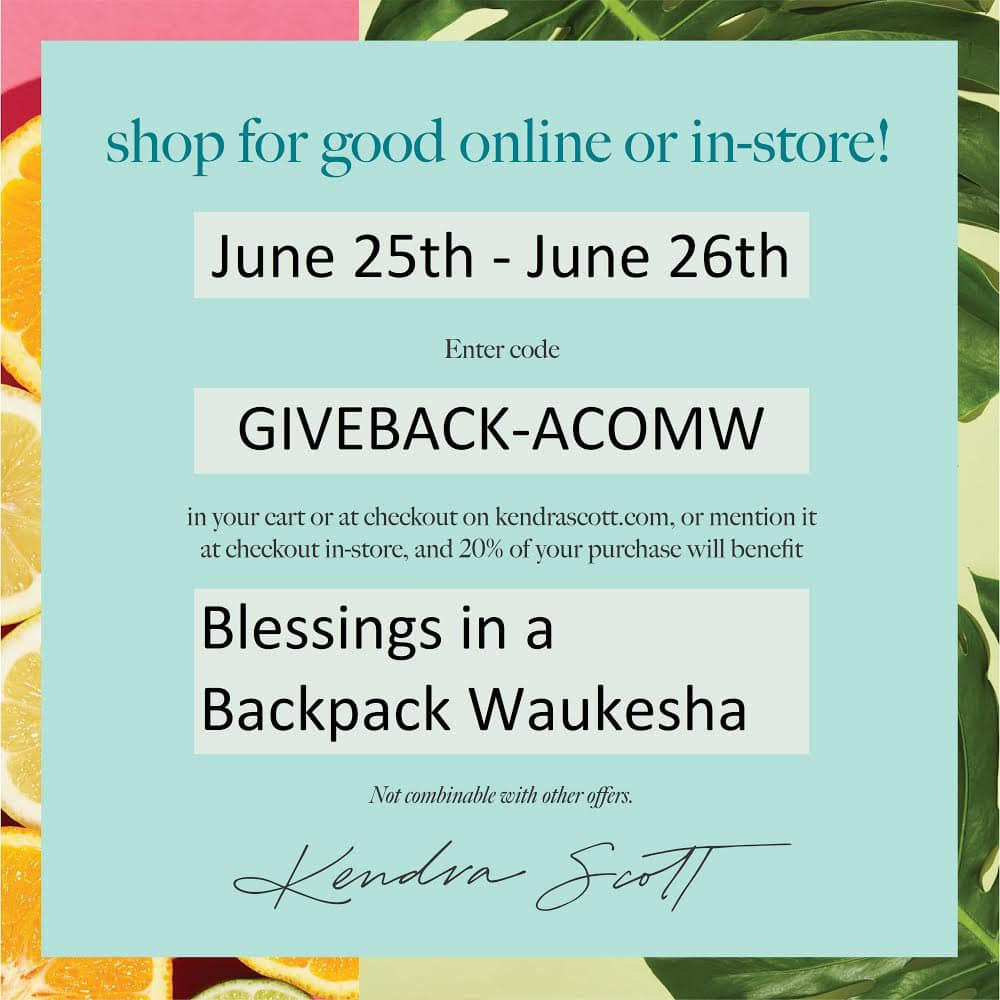 Shop to Give: Kendra Scott