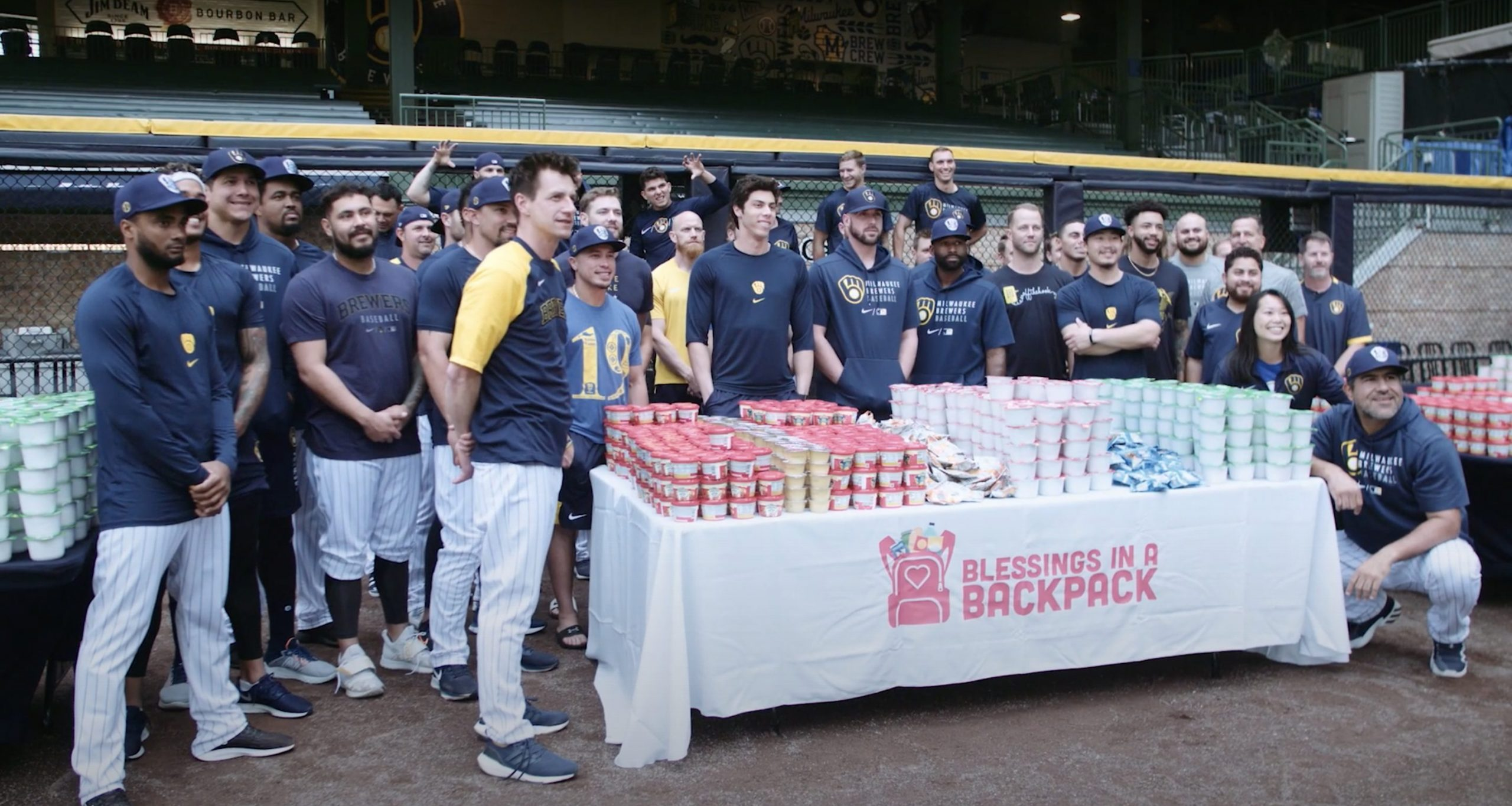 The Milwaukee Brewers and Blessings in a Backpack team up to fight childhood hunger!